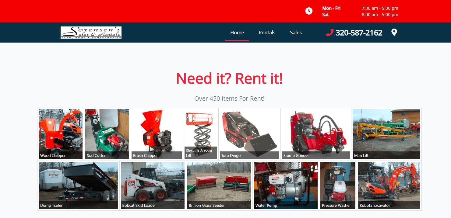 sorensen sales and rentals site example by Saranya Moellers